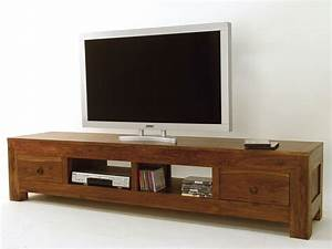 Meuble Hifi Bois : meuble tv hifi bois banc tv hifi somum ~ Voncanada.com Idées de Décoration