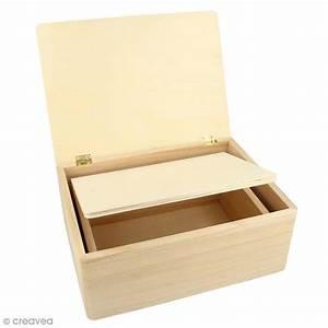 Boite En Bois : bo tes gigognes en bois rectangulaire 22 x 16 x 9 cm par 2 boite en bois d corer creavea ~ Teatrodelosmanantiales.com Idées de Décoration
