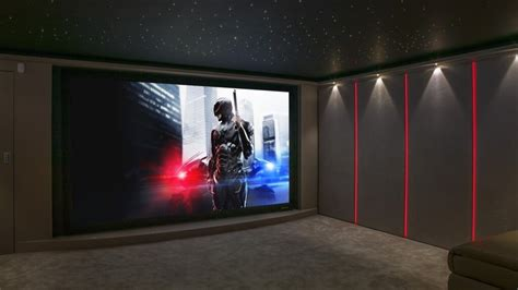 aurora garage conversion home cinema  london finite