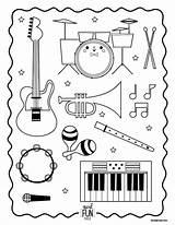 Coloring Instruments Musical Printable Preschool Pages Instrument Craft Kiddos Nod Landofnod sketch template