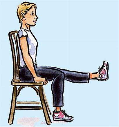 Chair Exercises Leg Exercise Workout Easy Extension
