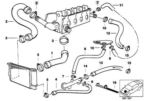 original parts for e36 316i m43 sedan engine cooling system water hoses 2 estore central