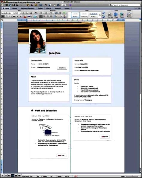 Resume Templates Word 2013 by Resume Template For Word 2013 Free Sles Exles