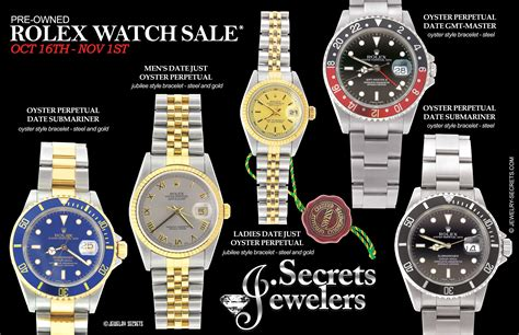 rolex pre owned  sample advertisement jewelry secrets
