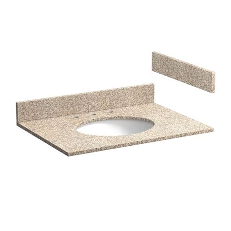 31 inch wheat beige granite vanity top with pre attached