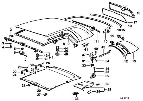 Bmw E30 Part Diagram by Original Parts For E36 323i M52 Cabrio Sliding Roof