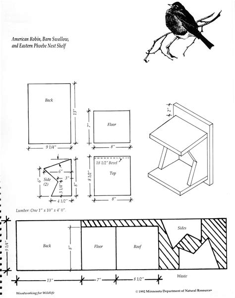 mourning dove nesting box plans  woodworking