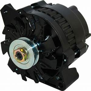New Cs130 One Wire Black Alternator Fits Chevy 110 Amp 1