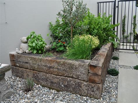 raised herb garden design photograph raised herb garden