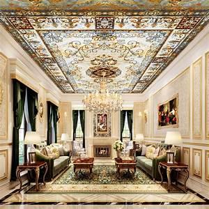 Wholesale 3d ceiling mural wallpaper royal ceiling mural ...