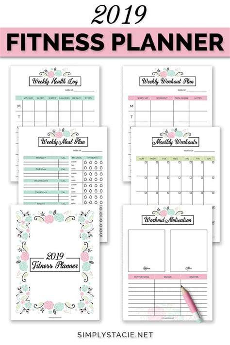fitness planner  printable fitness planner