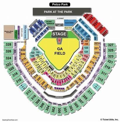 Petco Seating Park Chart Concert Padres San