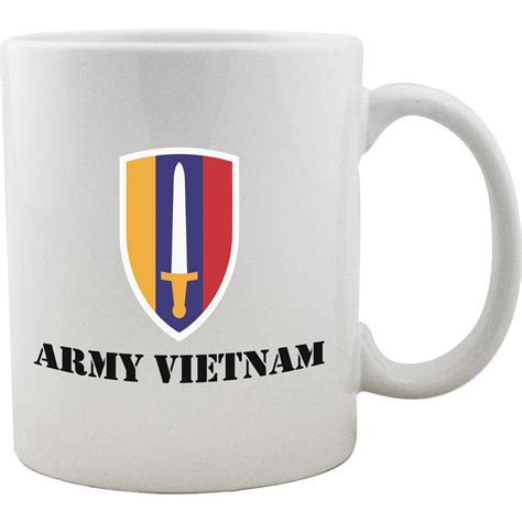 Additional lava also known as morph mugs are uniquely offered where the mug is seen in all black and then when hot contents are poured into the mug the artwork begins to display prominently. Army Vietnam Mug   USAMM