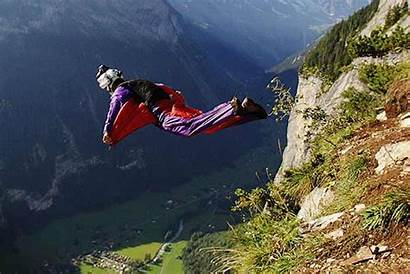 Base Jumping Wings Jump Beneath Wind Cliff