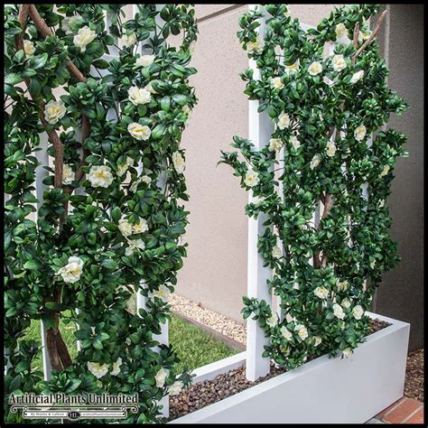 Trellis With Artificial Flowers