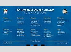 Calendario Inter Serie A 20172018 ecco tutte le giornate