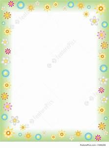 illustration of spring With frame for letter size paper