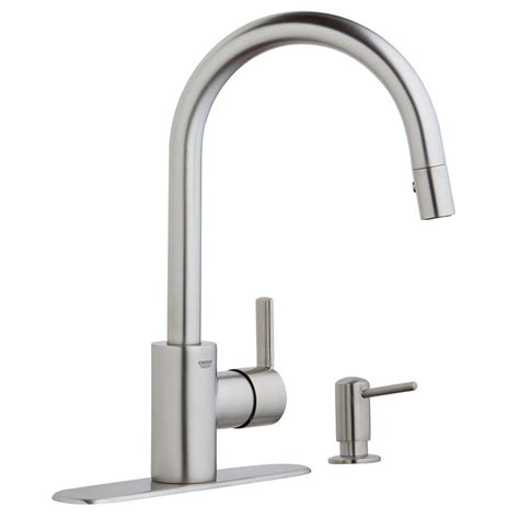 grohe feel cuisine shop grohe feel supersteel infinity 1 handle pull