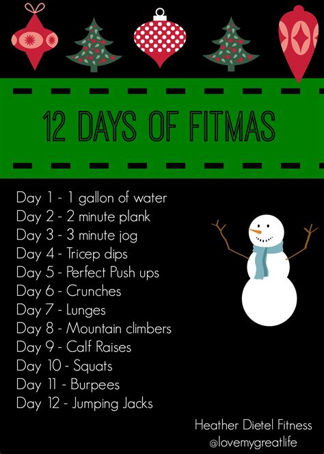 12 Days Of Fitmas  Heather Dietel Fitness