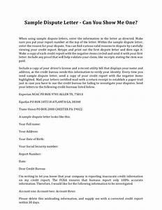 sample credit dispute letter template credit repair With credit repair letters