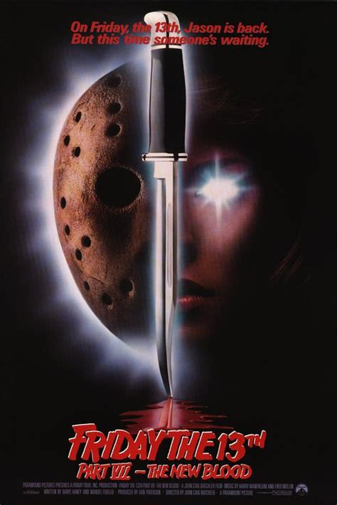 movie 13th friday blood vii poster posters 1988