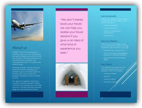 tri fold brochure template word ms office templates