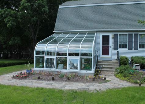 curved eave aluminum greenhouse glass house llc