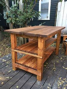 Hand-Built Rustic Kitchen Island House Food Baby