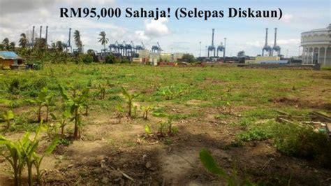 Tanah Lot untuk Dijual Geran Individu Pulau Indah Port