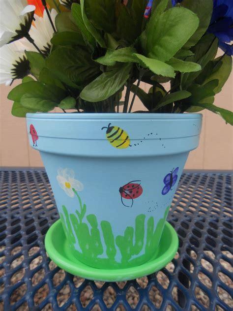 diy teacher appreciation thumbprint flower pot teacher