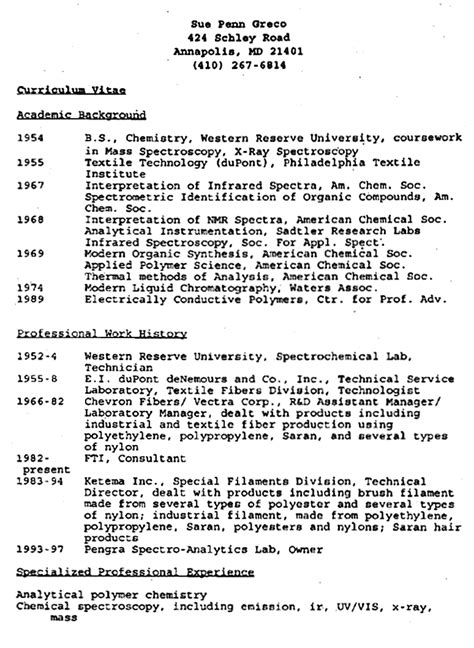 Fbi Special Resume Exle by The Jeffrey Macdonald Information Greco S Curriculum Vitae