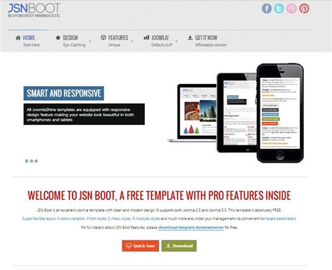 best bootstrap templates jsn boot free joomla bootstrap theme