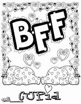 Coloring Pages Bff Printable Sheets Friends Letters Cool Friend Adult Bubble Drawing Teenage Adults Forever Teens Cupid Colouring Sheet Disney sketch template