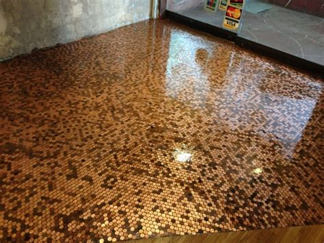 tile your floor with pennies penny floor interior design dreams pinterest ceilings house and interiors