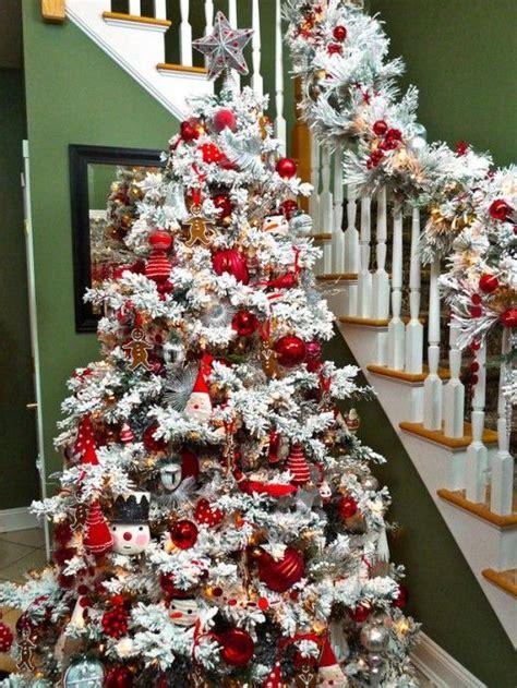 flocked christmas tree decorating ideas flocked tree