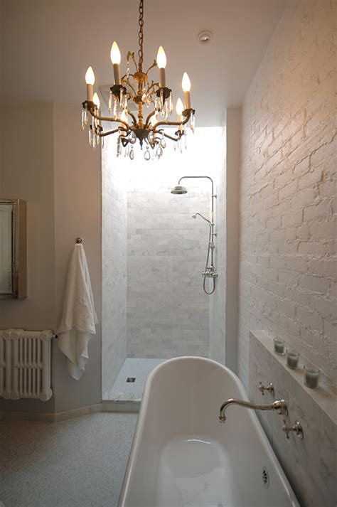 open shower ideas transitional bathroom lake jane