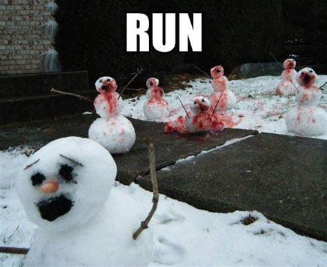 Funny Snow Meme - snombies snow zombies