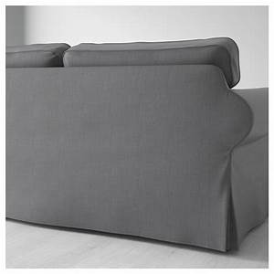 Ektorp two seat sofa and chaise longue nordvalla dark grey for Couch gb sofa