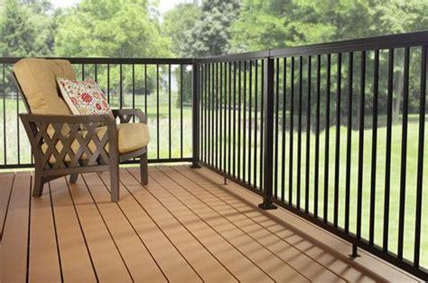 aluminum deck railing standard pickets black