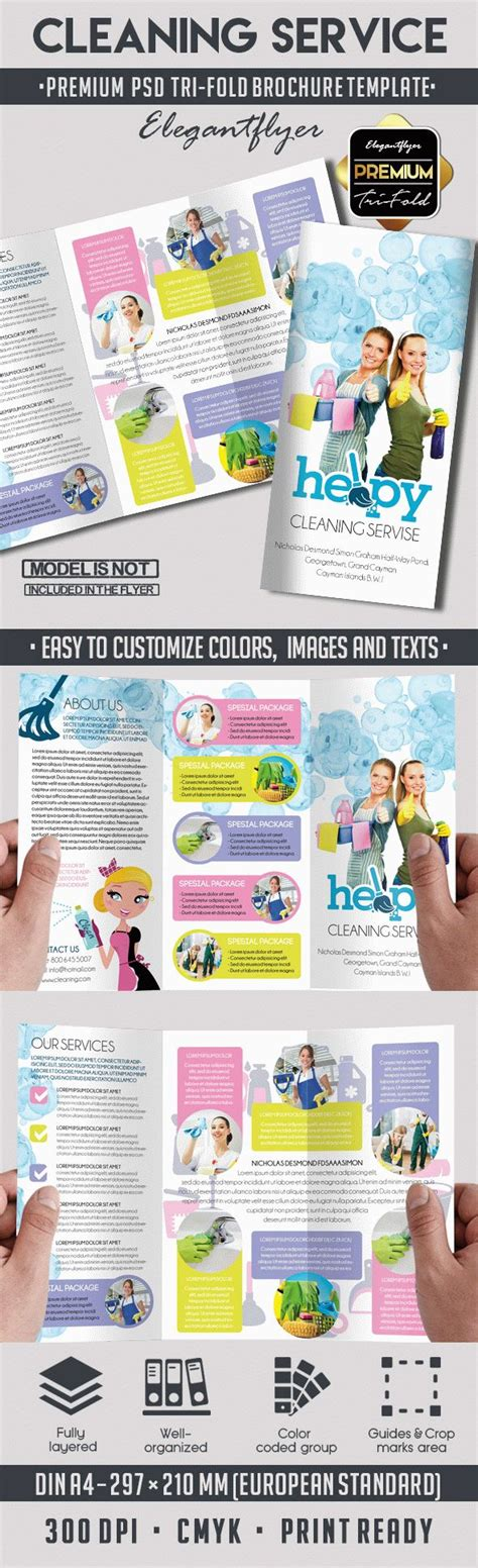 Cleaning Services Bi Fold Template By Elegantflyer Cleaning Services Brochure Template By Elegantflyer