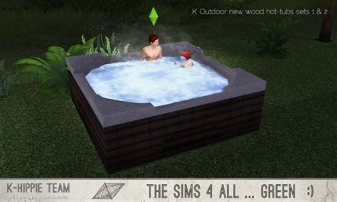 outdoor  wood hot tubs  sets     hippie