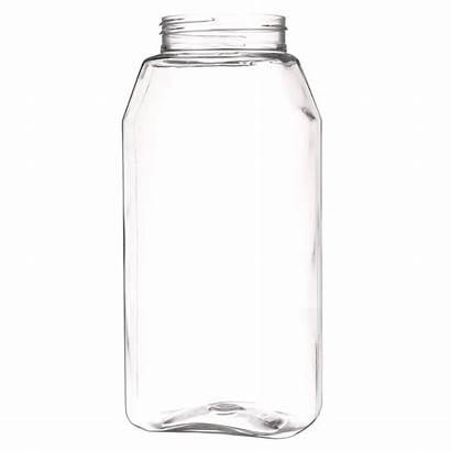 Clear Pet Jar Plastic Oz Neck Oblong