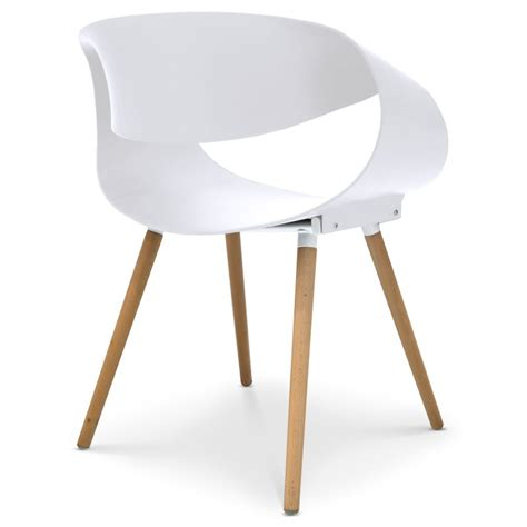 Chaises Scandinaves Design Ritas Blanc  Lot De 2 Pas Cher