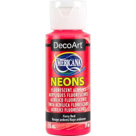 home depot neon lights americana neon lights 2 oz fiery red acrylic paint dhs4