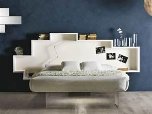 Bett Mit Regal Am Kopfende : sch ne betten f rs moderne schlafzimmer 25 designs ~ Eleganceandgraceweddings.com Haus und Dekorationen