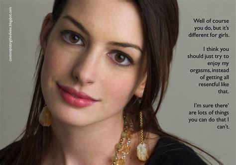 Anne Hathaway Femdom Captions