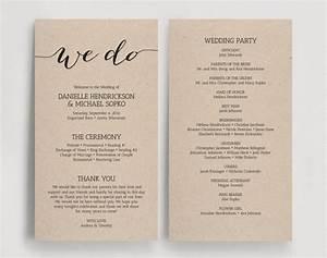 wedding programs printable template printable program With diy wedding invitations programs free