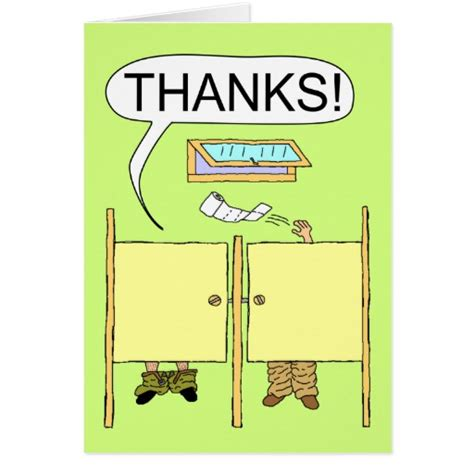 Funny Thank You Card: Toilet Paper   Zazzle