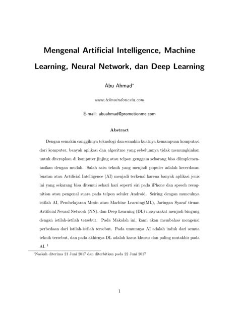 (PDF) Mengenal Artificial Intelligence, Machine Learning