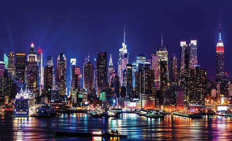 york city living room wallpaper